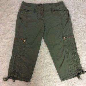White House Black Market Cropped Cargo Pants